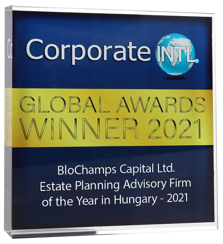 2021 Corporate Intl Global Awards - Estate Planning Advisory Firm of the Year in Hungary - 2021